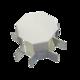 Соединитель ККМО Угол 25 X-образный металлический | Угол X-образный для кабель-канала