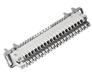 LSA PROFIL плинты 2/10 с неразмыкаемыми контактами (6089 1 120-06)   Модуль подключение кабеля к кроссовому оборудованию