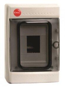 Щиток настенный с дверцей 4 модуля IP65 серый (85604) | Щиток модульный