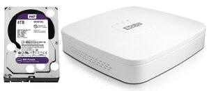 Комплект BOLID RGG-0811 версия 2 + WD40PURZ (4 TB)   Видеорегистратор мультиформатный 8-канальный + жесткий диск