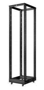 """RA-42U-1000-BK (10160c) Открытая стойка 19"""", 42U, двухрамная, усиленная, цвет черный   Открытая стойка 19"""", 42U, двухрамная, усиленная, цвет черный"""