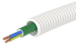 Труба ПЛЛ D=20 + ППГнг(А)-HF 3x2,5 (ГОСТ+) (8S82050HF) | Гофрошланг с кабелем
