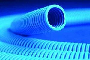 Труба ППЛ тяжелая, синяя D=20 (11520)   Гофрошланг
