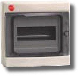Щиток настенный с дверцей 8 модуля IP65 серый (85608) | Щиток модульный