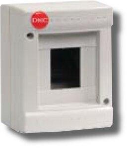 Щиток настенный без дверцы 4 модуля IP40 серый (83604)   Щиток модульный