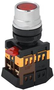 Кнопка ABLF-22 красный D22мм неон 1з+1р (BBT10-ABLF-K04)   Кнопка с подсветкой