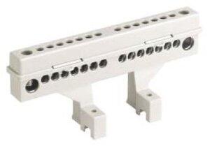 Клеммный блок 2х12 модуля + суппорты, с крепежом (87512)   Клеммник