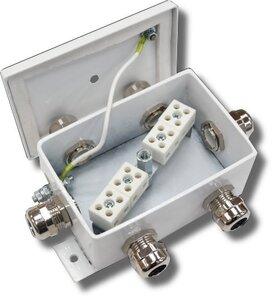 КМ-О (8к*6,0)-IP66-d шесть вводов   Коробка монтажная огнестойкая