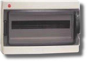 Щиток настенный с дверцей 18 модуля IP65 серый (85618) | Щиток модульный