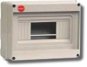 Щиток настенный без крышки 8 модулей IP20 серый (82008) | Щиток модульный