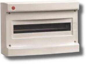 Щиток настенный без дверцы 18 модулей IP40 серый (83618)   Щиток модульный