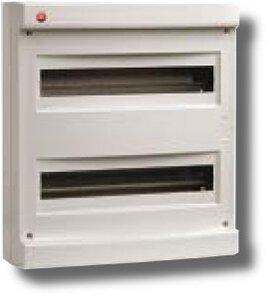 Щиток настенный без дверцы 36 модулей IP40 серый (83636)   Щиток модульный