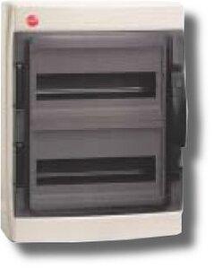 Щиток настенный с дверцей 24 модуля IP65 серый (85624) | Щиток модульный