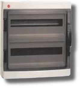 Щиток настенный с дверцей 36 модуля IP65 серый (85636) | Щиток модульный