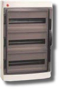 Щиток настенный с дверцей 54 модуля IP65 серый (85654)   Щиток модульный