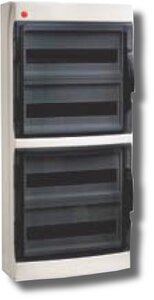 Щиток настенный с дверцей 54 модуля IP65 серый (85672) | Щиток модульный