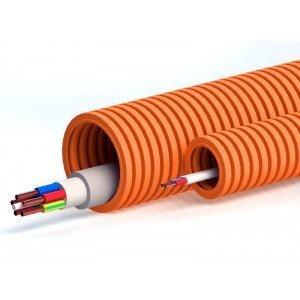 Труба ПНД тяжёлая безгалогенная (HF), оранжевая, с зондом D=20 (PR02.0033) | Гофрошланг