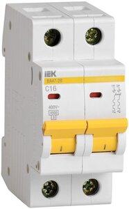 ВА47-29 2P 20А 4,5кА (MVA20-2-020-C)   Автоматический выключатель