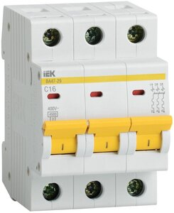 ВА47-29 3P 2А 4,5кА (MVA20-3-002-C) | Автоматический выключатель