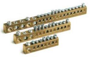 Клеммная колодка 12 модулей 3х5.4 мм + 10х4.5 мм (87412)   Клеммник