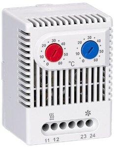 Термостат двухканальный от 0 до +60°C NO+NC (YCE-DTNO-NC-60) | Термостат