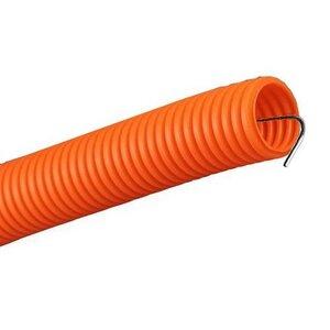 Труба ПНД строительная не распространяющая горение с зондом D=20, оранжевая (Промрукав) (PR02.0041)   Гофрошланг