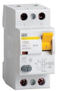 ВД1-63 2Р 80А 30мА (MDV10-2-080-030) | Автоматический выключатель дифференциальный (УЗО)