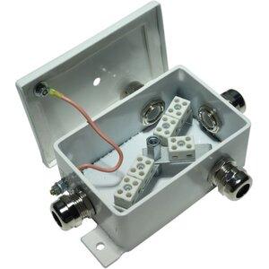 КМ-О (4к*6,0)-IP66-d,шесть вводов   Коробка монтажная огнестойкая