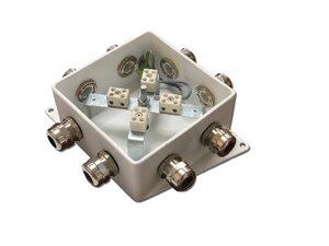КМ-О (8к)-IP66-120х120, три ввода | Коробка монтажная огнестойкая