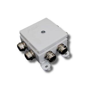 КМ-О (12к)-IP66-120х120, пять вводов | Коробка монтажная огнестойкая