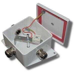КМ-О (2к*6,0)-IP66-120х120, пять вводов   Коробка монтажная огнестойкая