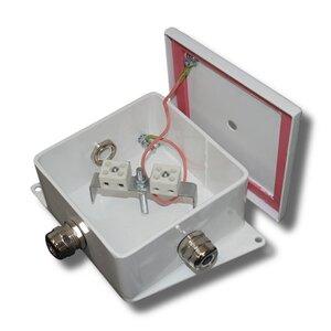 КМ-О (4к*6,0)-IP66-120х120, восемь вводов   Коробка монтажная огнестойкая