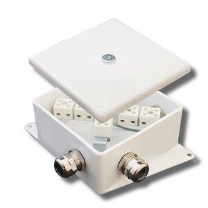 КМ-О (6к*6,0)-IP66-120х120, три ввода | Коробка монтажная огнестойкая
