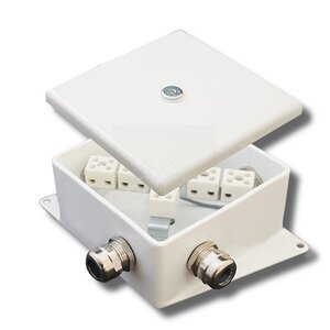КМ-О (6к*6,0)-IP66-120х120, восемь вводов | Коробка монтажная огнестойкая