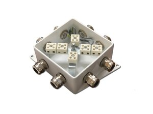 КМ-О (12к*6,0)-IP66-120х120, пять вводов | Коробка монтажная огнестойкая