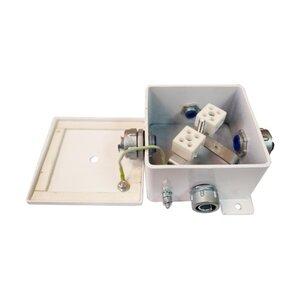 КМ-О (6к*10,0)-IP66-120х120, три ввода | Коробка монтажная огнестойкая