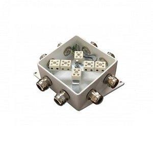 КМ-О (12к*10,0)-IP66-120х120, пять вводов | Коробка монтажная огнестойкая