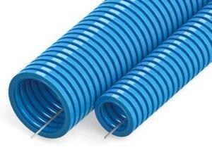 Труба ПП лёгкая не распространяющая горение синяя с зондом D=25 (PR02.0077) | Гофрошланг