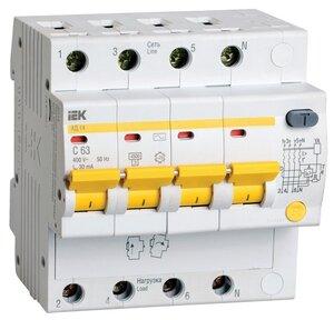 АД14 4Р 50А 30мА (MAD10-4-050-C-030)   Автоматический выключатель дифференциального тока