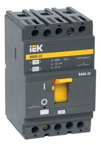 ВА88-32 3Р 125А 25кА (SVA10-3-0125-R) | Автоматический выключатель силовой