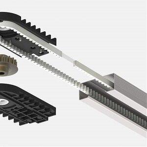 LGR-3300B | Рейка приводная цельная с зубчатым ремнем