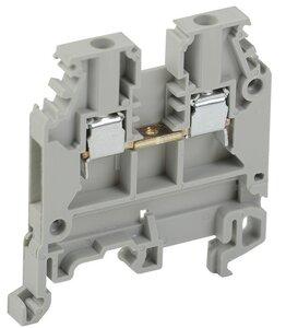Зажим наборный ЗНИ-2,5 кв.мм серый (YZN10-002-K03) | Клеммник