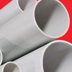 Труба жесткая ПВХ 3-х метровая тяжелая D=63, серая (63563) | Труба жесткая