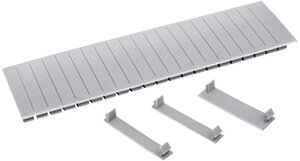 Заглушка 12 модулей серая (YZM10-12) | Заглушка