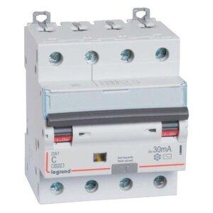 АВДТ DX3 4П C25А 30MA-AC (411188) | Автоматический выключатель дифференциального тока