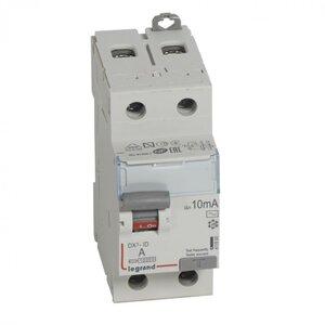 ВДТ DX3 2П 16А 10мА-AC (411500) | Выключатель дифференциального тока