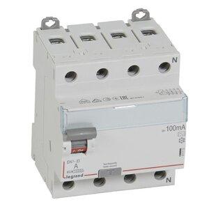 ВДТ DX3 4П 25А AC 100мА N справа (411712) | Выключатель дифференциального тока