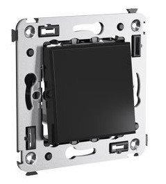 Инвертор одноклавишный в стену Avanti черный квадрат (4402123) | Инвертор