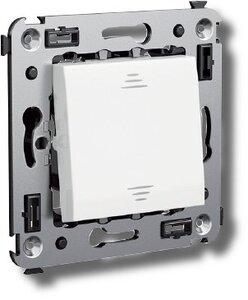 Выключатель одноклавишный в стену Avanti белое облако (4400103)   Выключатель