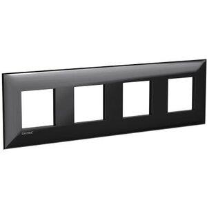 Рамка ARTLEBEDEV черный квадрат Avanti 8 модулей (4402908)   Рамка